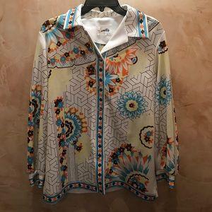 Hamilton Dallas Vintage 70s Button Up Rodeo Blouse